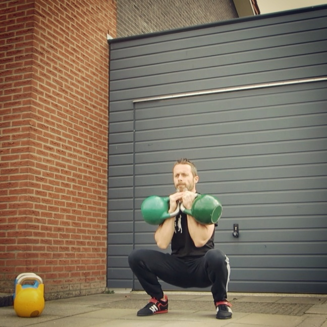 Kettlebell Double Front Squat