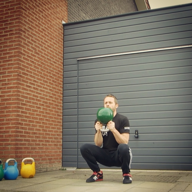 Kettlebell Globlet Squat Bottom Up