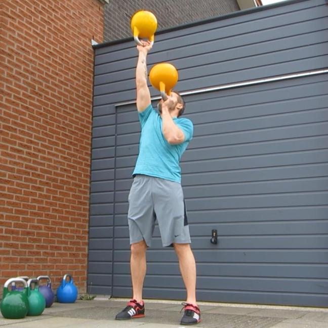 Kettlebell Alternate Bottom Up Press