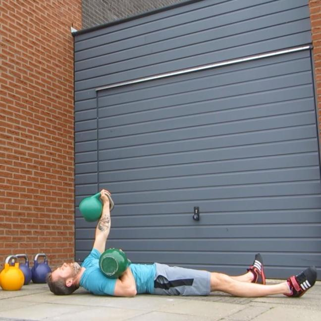 Kettlebell Alternate Floor Press