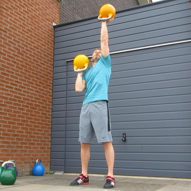 Kettlebell Alternate Waiters Press