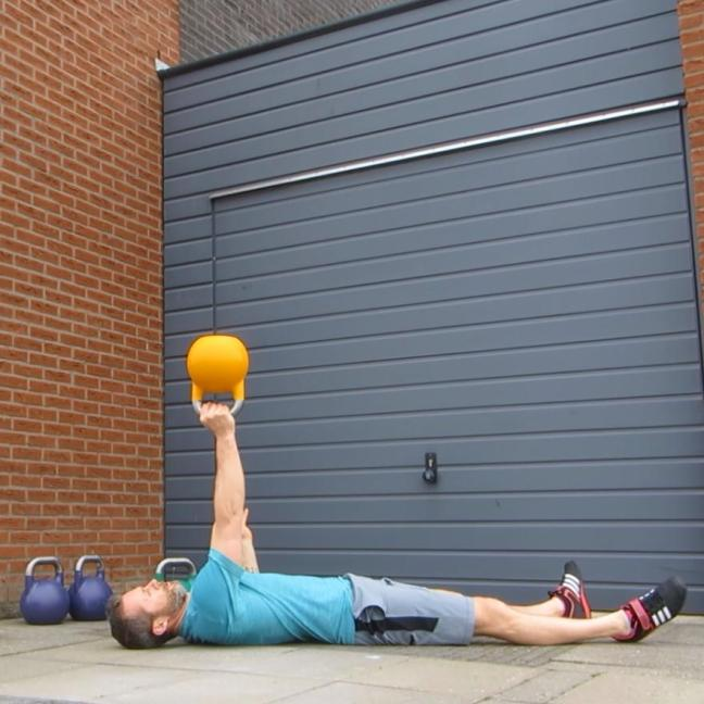 Kettlebell Bottom Up Floor Press