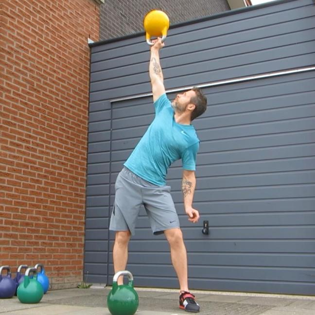 Kettlebell Bottom Up Side Press