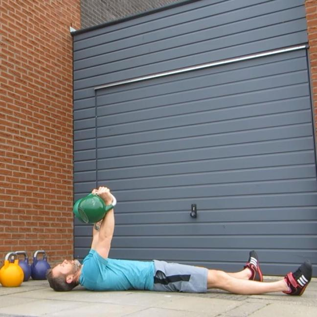 Kettlebell Double Floor Press