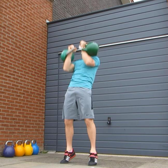 Kettlebell Double Push Press