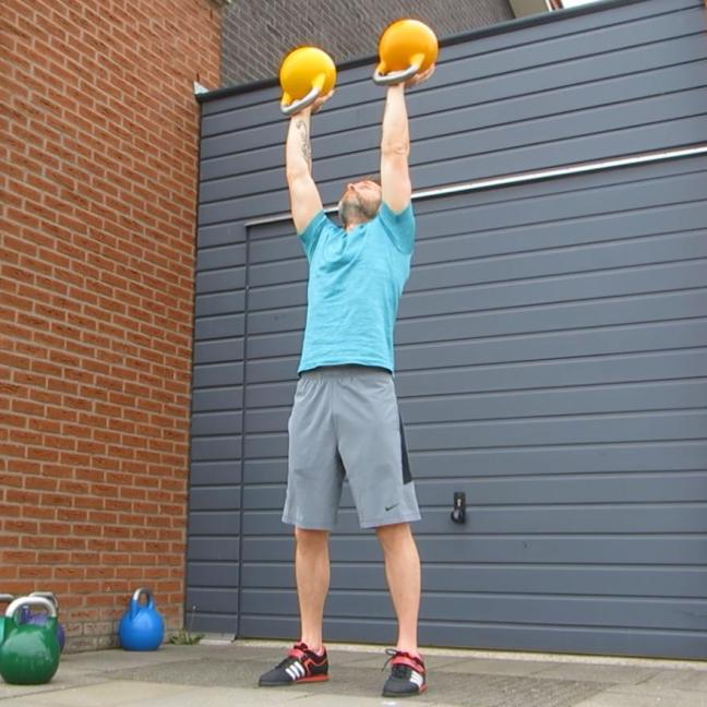 Kettlebell Double Waiters Press