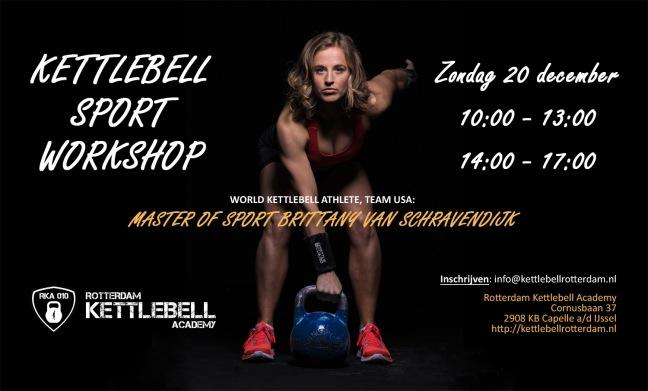 Kettlebell Sport Workshop in Rotterdam - Brittany van Schravendijk