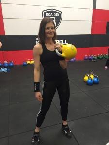 Kettlebell trainer Vera van der Wel