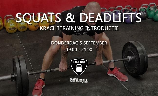 Squats & Deadlifts - Krachttraining Introductie Rotterdam
