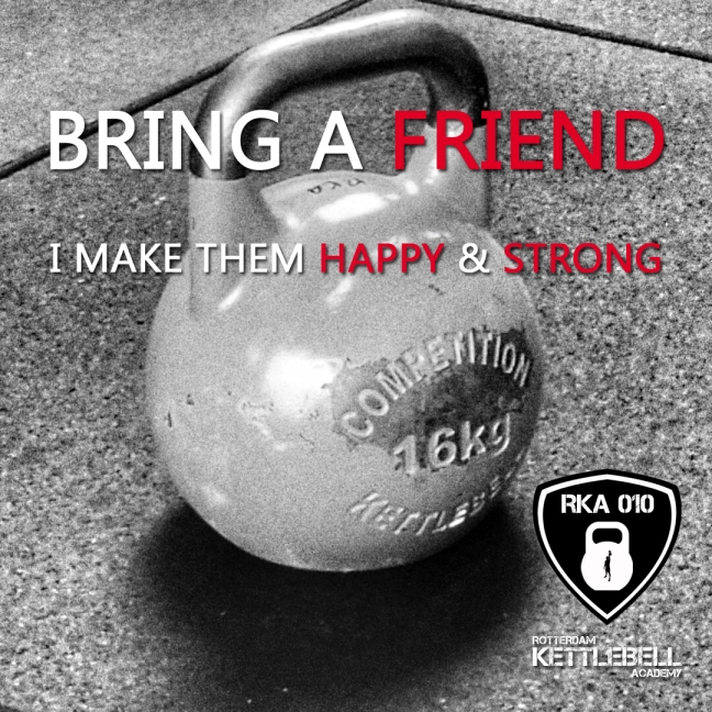 Bring a Friend kettlebell training