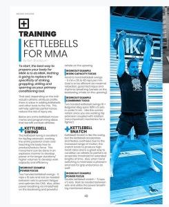 Kettlebells voor MMA vechtsport